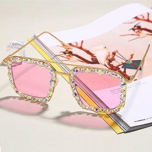 Accessories - Pink rhinestone sunglasses